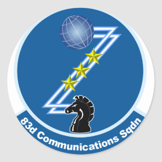 83.o Escuadrilla de las comunicaciones Pegatina Redonda
