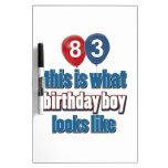 83.os diseños del cumpleaños del año pizarras