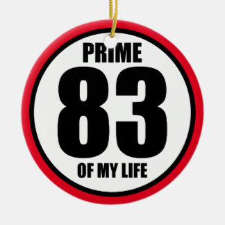 83 - prima de mi vida adorno navideño redondo de cerámica