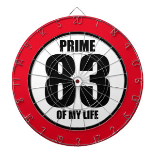 83 - prime of my life dart board