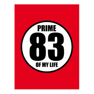 83 - prime of my life postcard