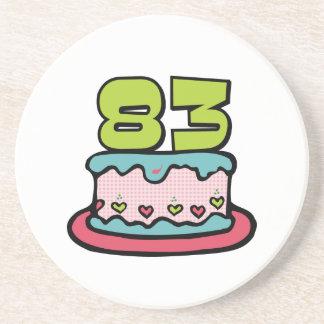 83 Year Old Birthday Cake Coaster