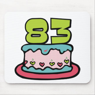 83 Year Old Birthday Cake Mouse Pad