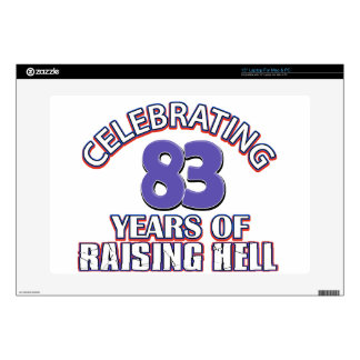 "83 years of raising hell skin for 15"" laptop"