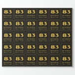 """[ Thumbnail: 83rd Birthday – Art Deco Inspired Look """"83"""" & Name Wrapping Paper ]"""