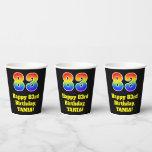 [ Thumbnail: 83rd Birthday: Colorful, Fun, Exciting, Rainbow 83 ]