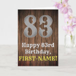 [ Thumbnail: 83rd Birthday: Country Western Inspired Look, Name Card ]