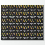 [ Thumbnail: 83rd Birthday: Elegant Luxurious Faux Gold Look # Wrapping Paper ]