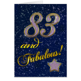83rd birthday for someone Fabulous Card