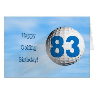 83rd birthday golfing card