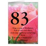 83rd Birthday Greeting Card