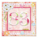 83rd birthday party scrapbooking style card