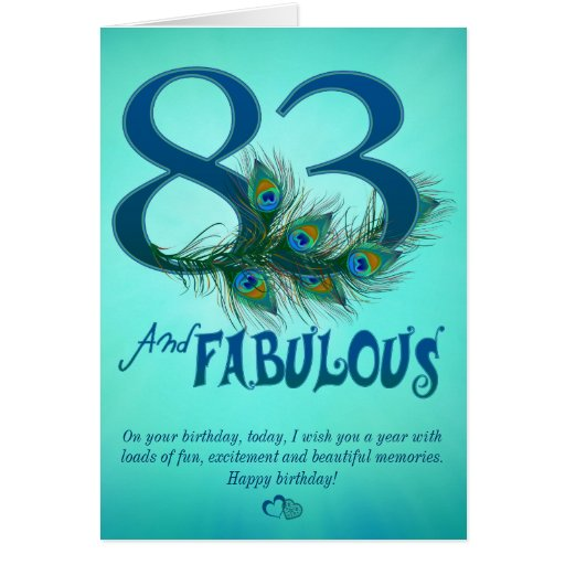83rd Birthday template Cards   Zazzle