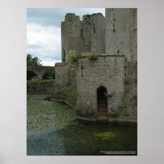 8436 Great Tower & Moat Raglan Castle Poster