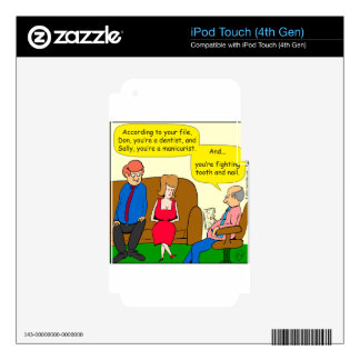 845 tooth and nail zazzle skin for iPod touch 4G