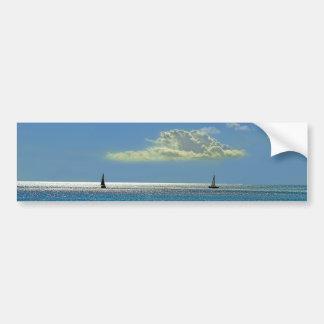 846 DIGITAL OCEAN SAILBOATS REALISM BACKGROUNDS WA BUMPER STICKER