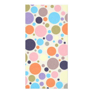 8474_polka-dots POLKA DOTS CIRCLES COLORFUL PINK O Card