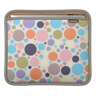 8474_polka-dots POLKA DOTS CIRCLES COLORFUL PINK O Sleeve For iPads