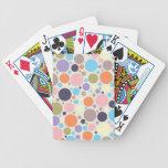 8474_polka-dots POLKA DOTS CIRCLES COLORFUL PINK O Bicycle Playing Cards