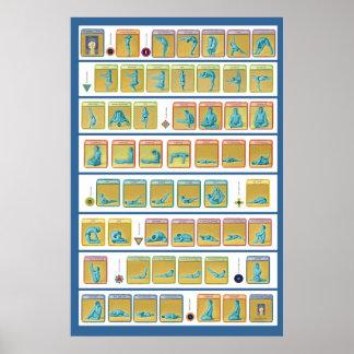 84 Asanas, Level 1 Poster