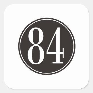 #84 Black Circle Square Sticker