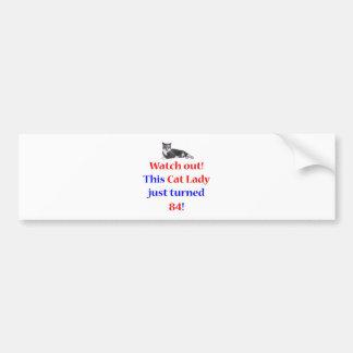 84 Cat Lady Bumper Sticker