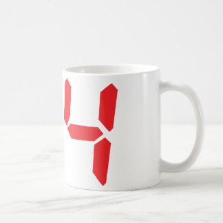 84 eighty-four red alarm clock digital number coffee mug