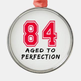 84 envejeció al diseño del cumpleaños de la perfec ornamento para arbol de navidad
