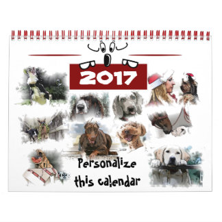 84 Illustrations of dogs Calendar