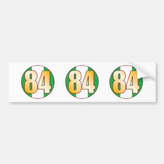 84 NIGERIA Gold Bumper Sticker