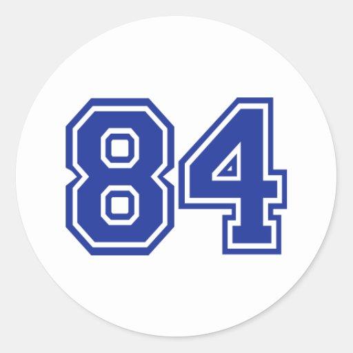 84 - número pegatina redonda