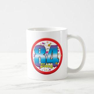 84.o Cumpleaños hoy v2 Taza De Café