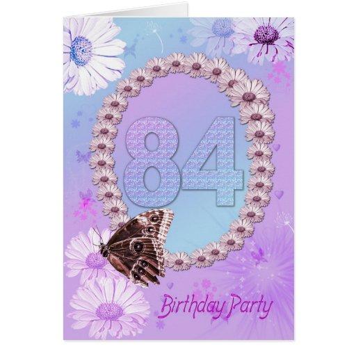 84.o Invitación de la fiesta de cumpleaños Tarjeta De Felicitación