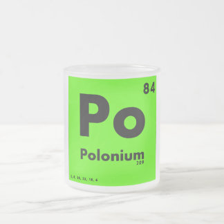 84 Polonium | Periodic Table of Elements Frosted Glass Coffee Mug
