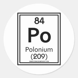 84 Polonium Classic Round Sticker