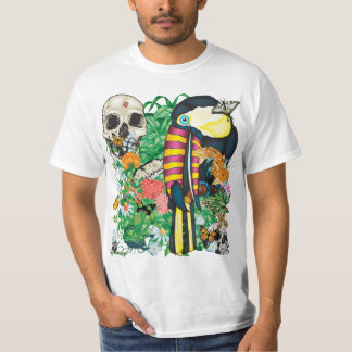 84-Toucan Tattoo Flash T-shirt - White Only