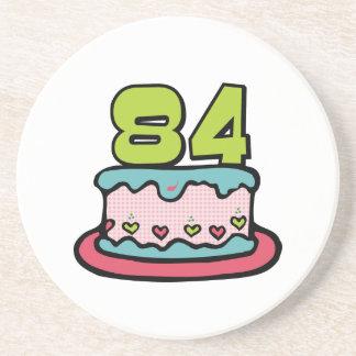 84 Year Old Birthday Cake Drink Coaster