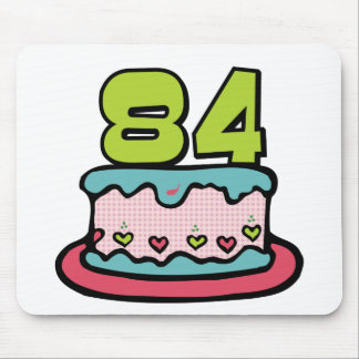 84 Year Old Birthday Cake Mouse Pad