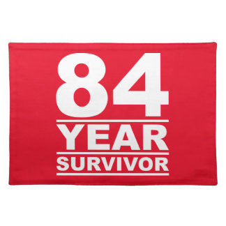 84 year survivor cloth placemat