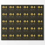 """[ Thumbnail: 84th Birthday – Art Deco Inspired Look """"84"""" & Name Wrapping Paper ]"""