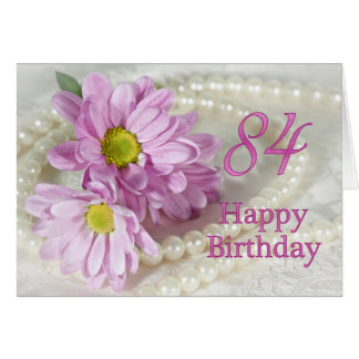 84th Birthday card with daisies