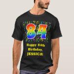 [ Thumbnail: 84th Birthday: Colorful Music Symbols, Rainbow 84 T-Shirt ]