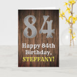 [ Thumbnail: 84th Birthday: Country Western Inspired Look, Name Card ]