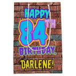 [ Thumbnail: 84th Birthday: Fun, Urban Graffiti Inspired Look Gift Bag ]