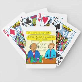 850 wine and veggie diet cartoon bicycle playing cards