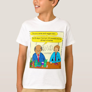 850 wine and veggie diet cartoon T-Shirt