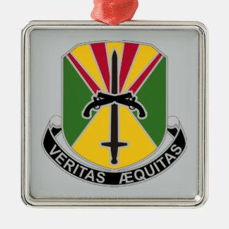850o Batallón de la policía militar Adorno Cuadrado Plateado