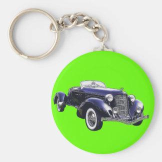 851 Auburn boattail speedster auto black car Keychain