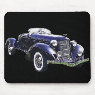 851 Auburn boattail speedster auto black car Mouse Pad