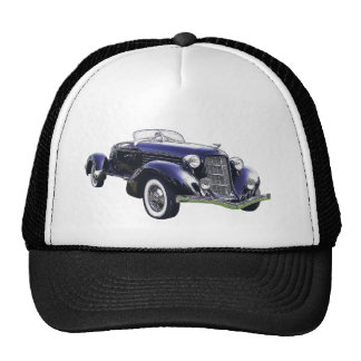 851 Auburn boattail speedster auto black car Trucker Hat